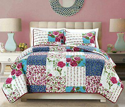 2 piece fine printed country rose oversize