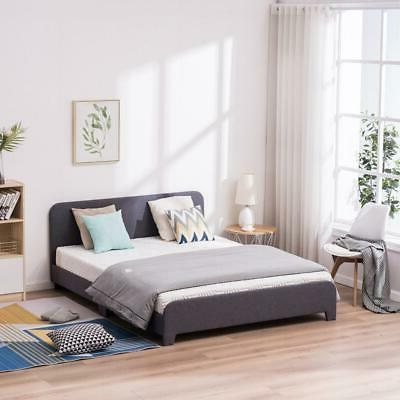 3 Size Frames Base with padded design Headboard lined Gray