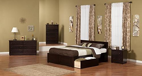 Orlando Bed with Panel Foot Board and 2 Urban Drawers, Queen,