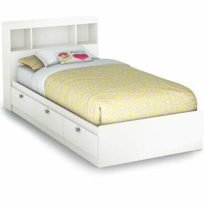 South Shore 3260B2 Spark Twin Storage Bed and Bookcase Headb