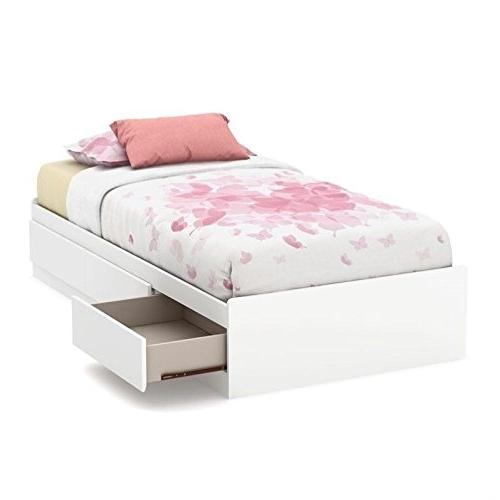 "South Shore 39"" Callesto Mates Bed with 3 Drawers, Twin, Pur"
