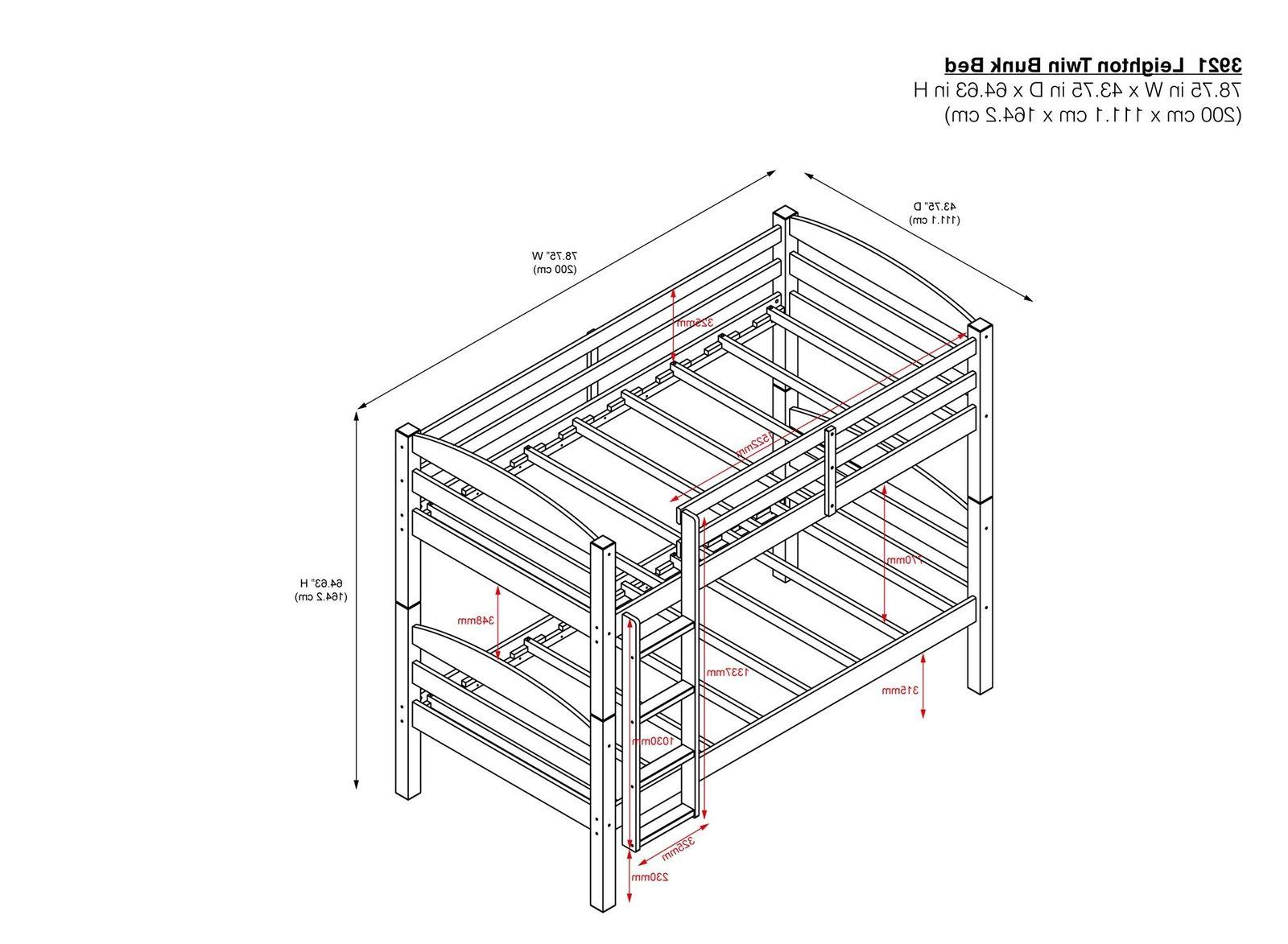 Bunk Over Twin Kids Ladder Safety Rails