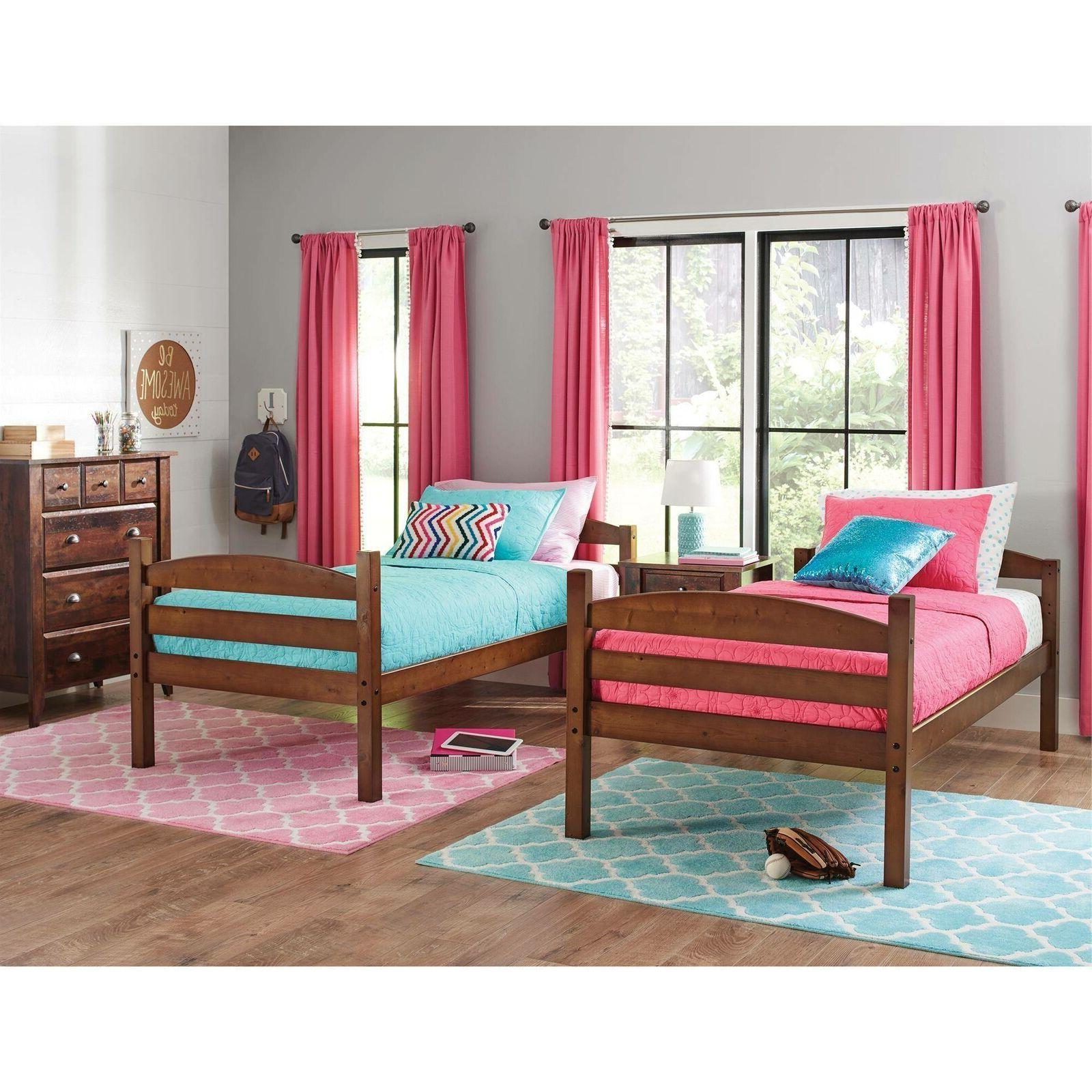 Bunk Twin Twin Wood Convertable Kids Unisex