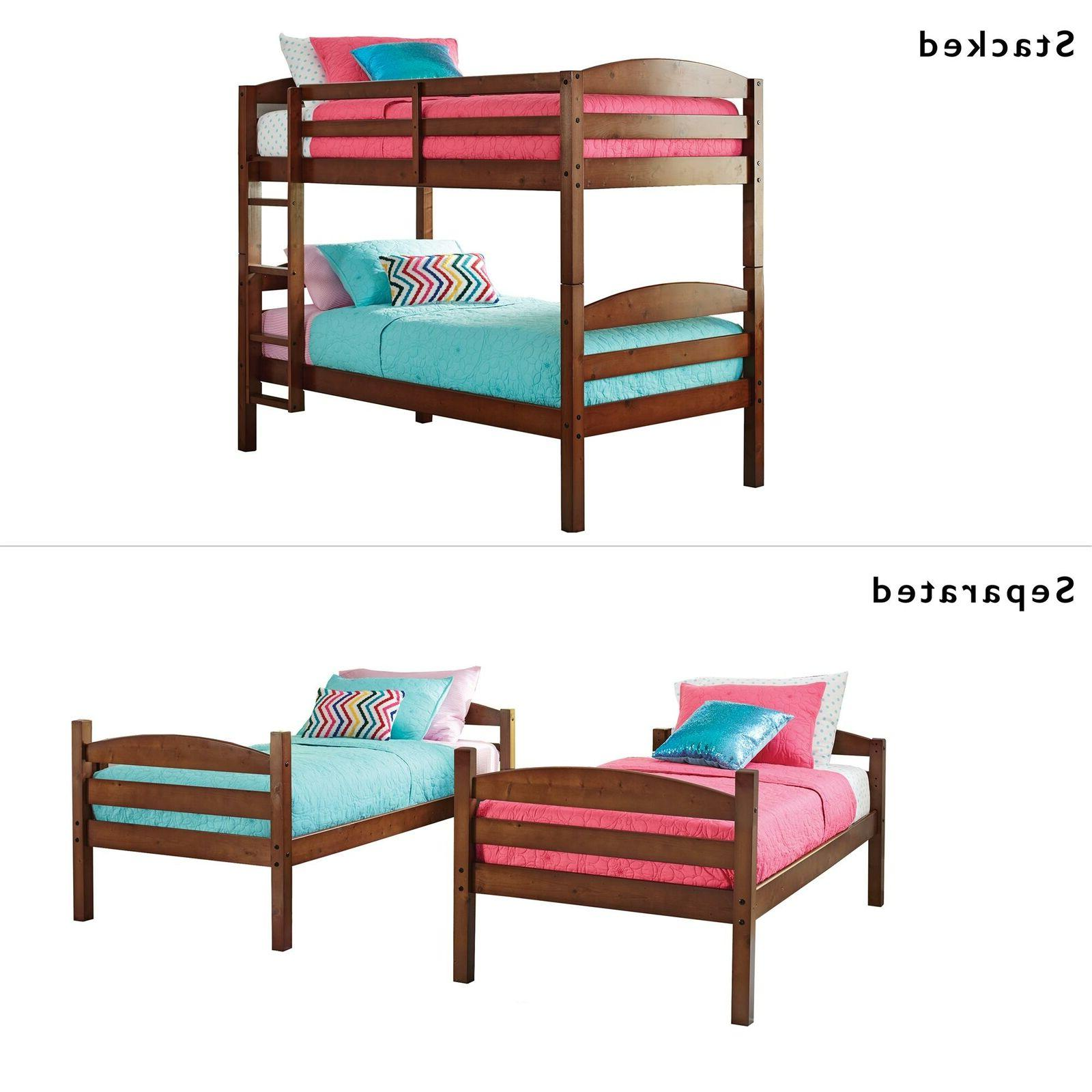 bunk bed twin over twin solid wood