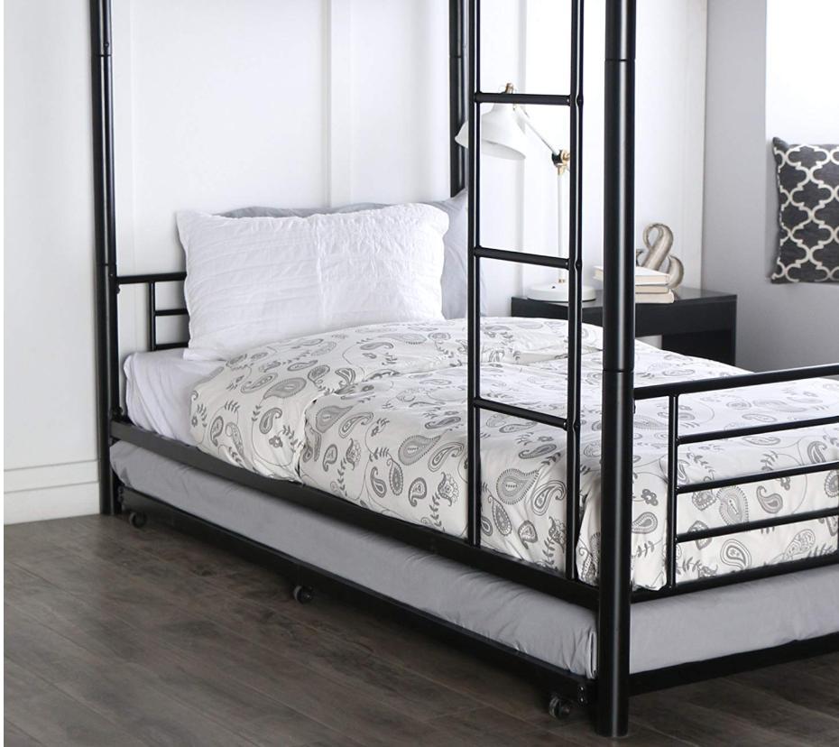 BUNK Metal Twin Trundle Space