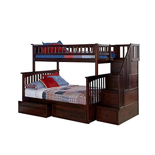 Atlantic Furniture Columbia Staircase Bunk Full Bed