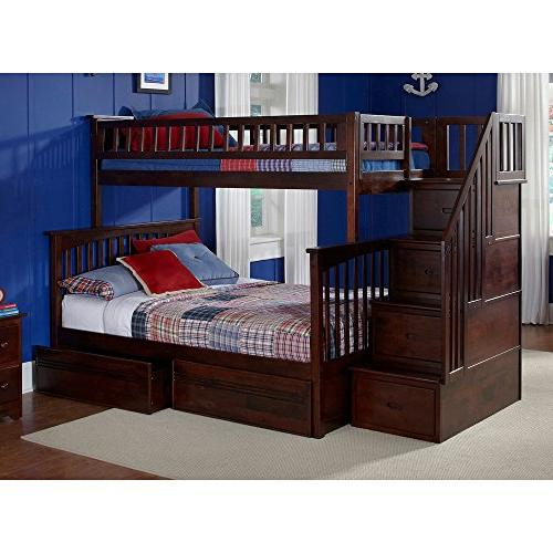 columbia staircase bunk bed twin