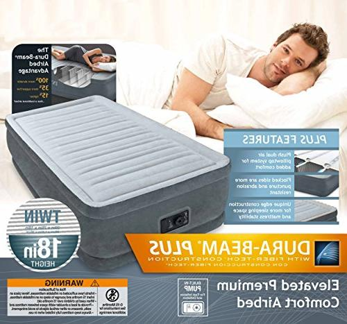 """Dura-Beam Airbed with Built-In Electric Pump, Bed 18"""""""", Twin"""