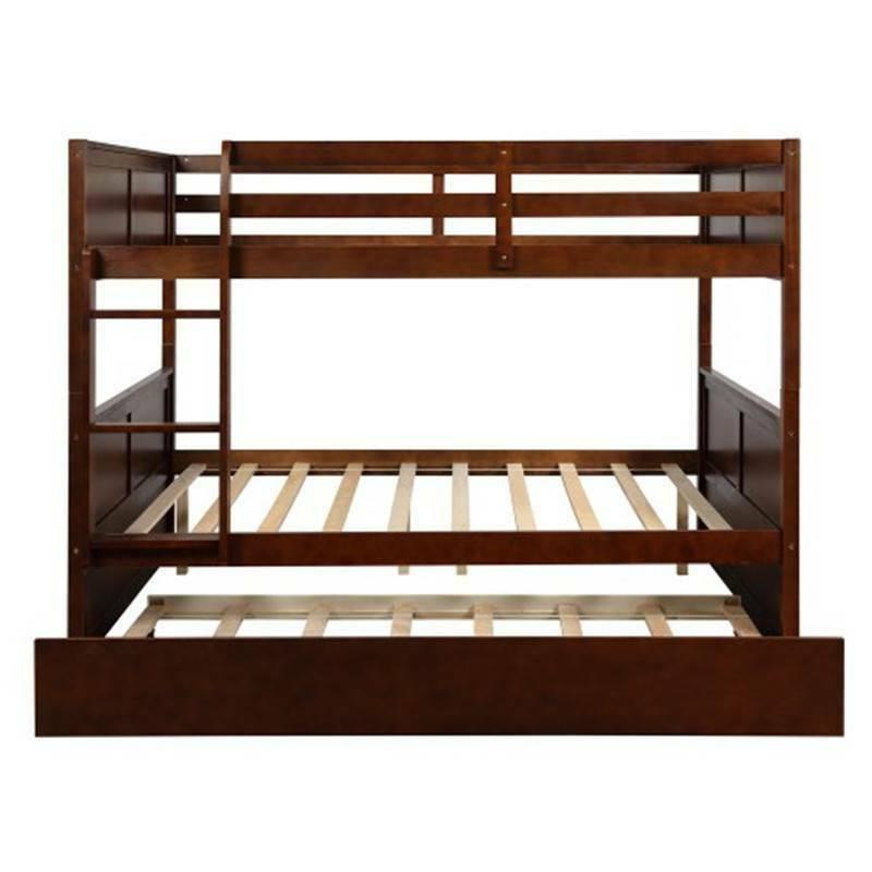 Full Over Bunk Bed with Size Trundle Bed