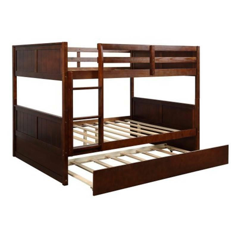 Full Bed with Trundle W/Ladder Bed Home Furniture