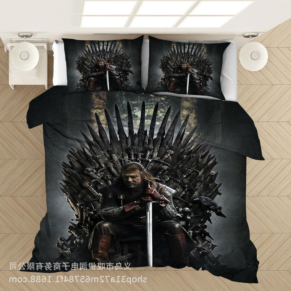 Game Thrones Cover 3D Quilt Cover Pillowcase