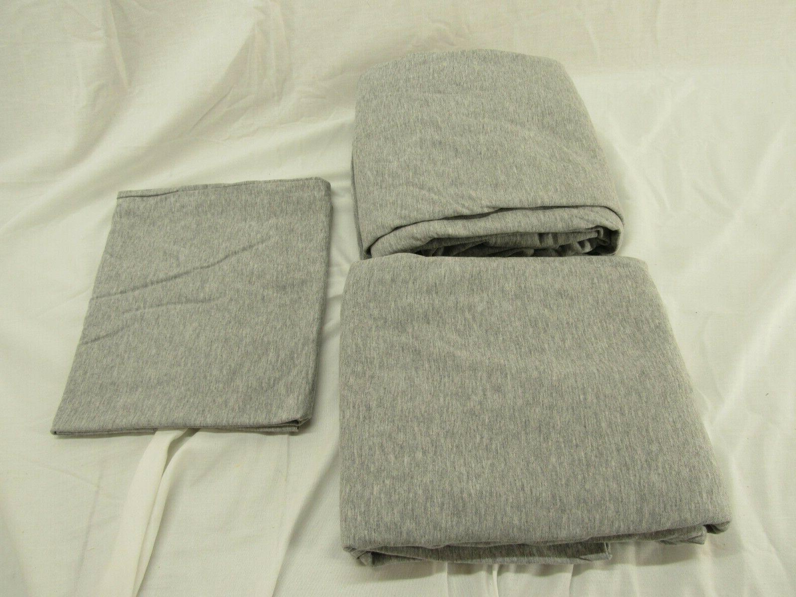 heather cotton jersey bed sheet set twin