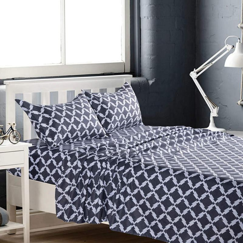 kfz grey twin bed sheets 3piece