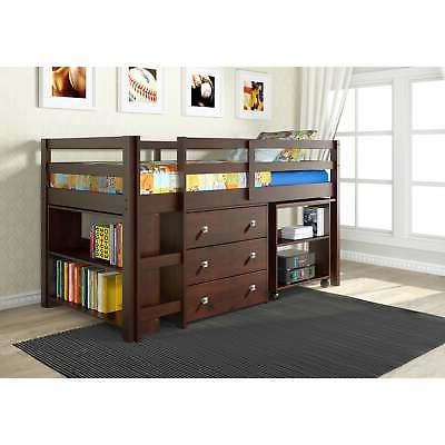 Donco Kids Study Loft Bed with Chest