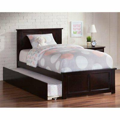 madison urban twin trundle platform bed in