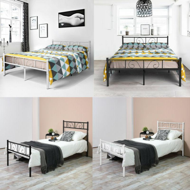 metal bed frame twin full size bedroom