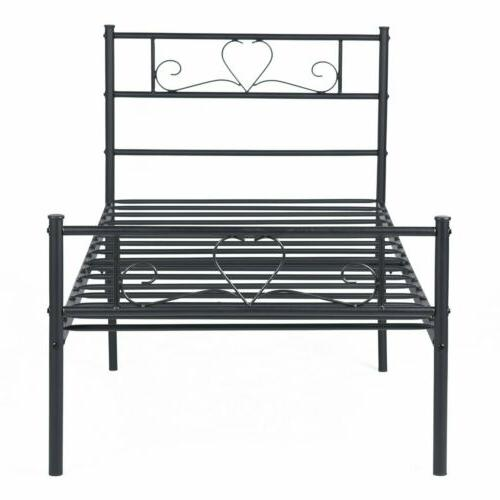 Metal Bed Size with Headboard and Footboard Foundation