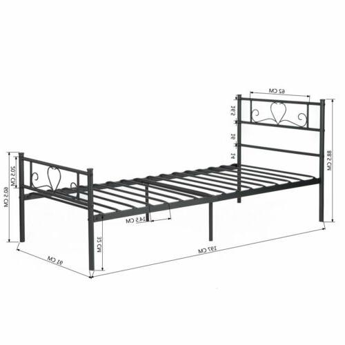 Metal Bed Frame Twin Size with