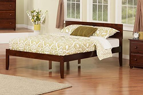 Atlantic Furniture Platform Bed with Footboard in