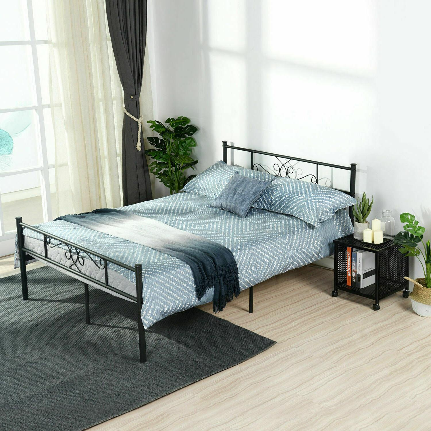Platform Frame Twin Full Bed Headboard