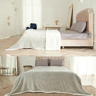 Sherpa Flannel Soft Plush Warm Thickened Bed