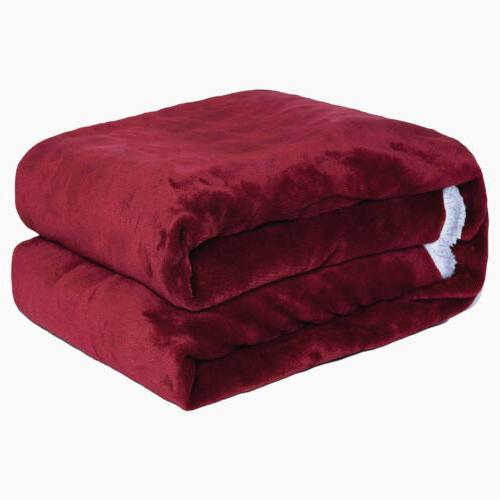 Sherpa Flannel Fleece Blanket Soft Thickened Bed Sofa