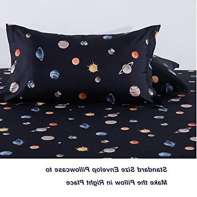 KFZ Solar System Planets Twin Sheets for and –Navy Blue 4 1 1