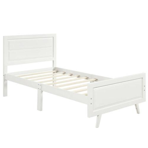 Platform W/Headboard Twin White