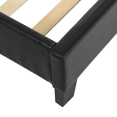 Twin w/ Nailhead Bed Support Black