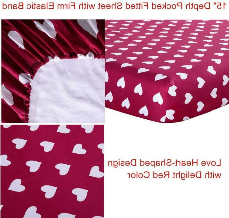 KFZ Twin Set –Red Themed Heart Printed
