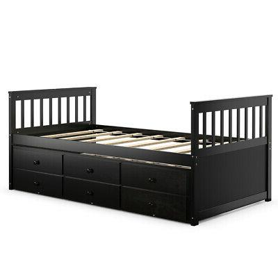 twin captains bed bunk bed alternative w
