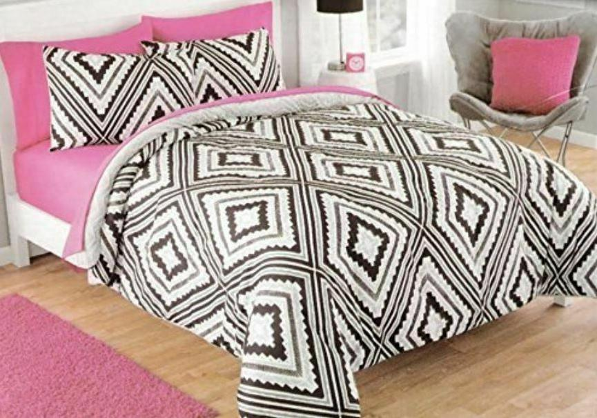 Twin Comforter Sets For Girls Teen Kids Plush Reversible Bed