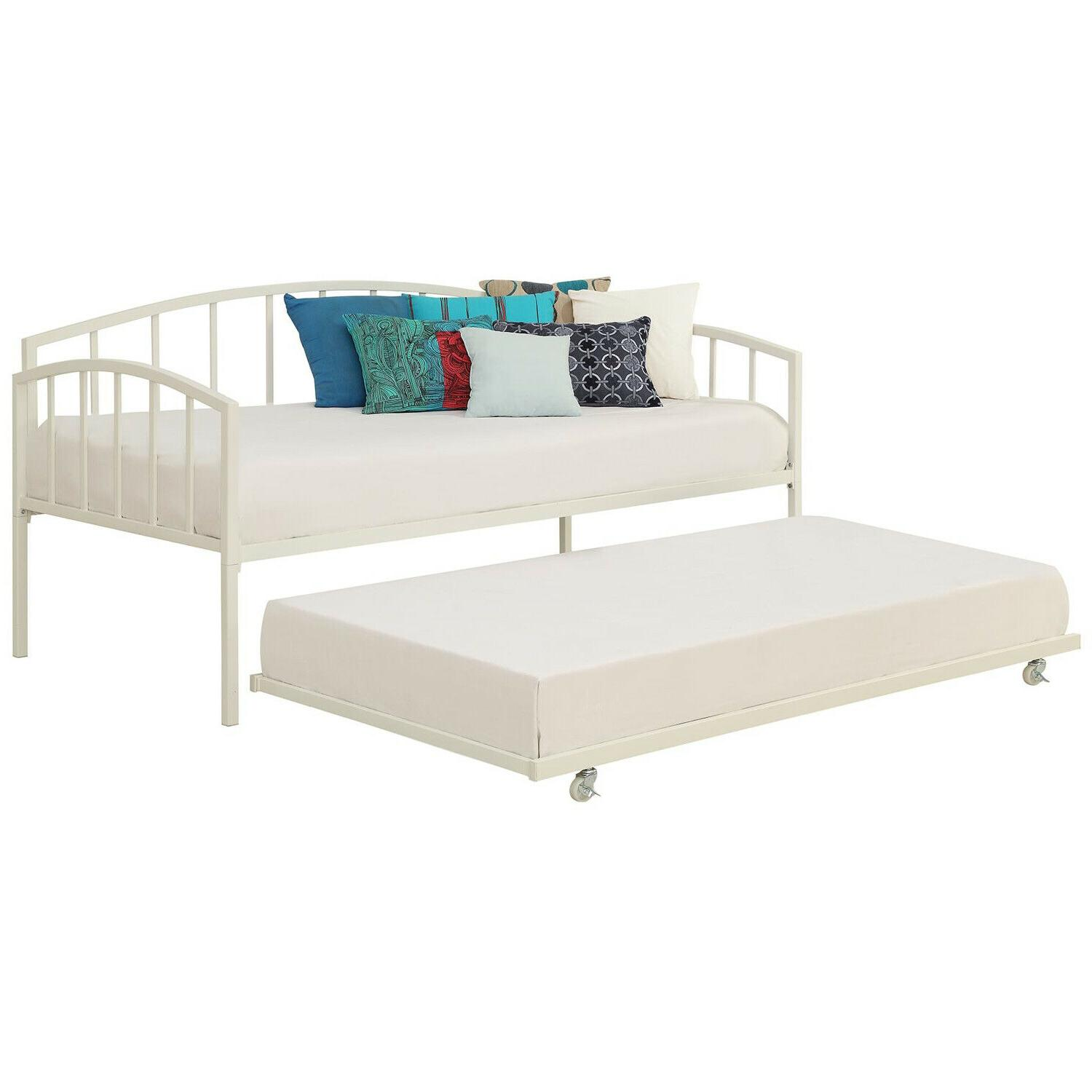 Twin Trundle Out Guest Bed Child Room Metal