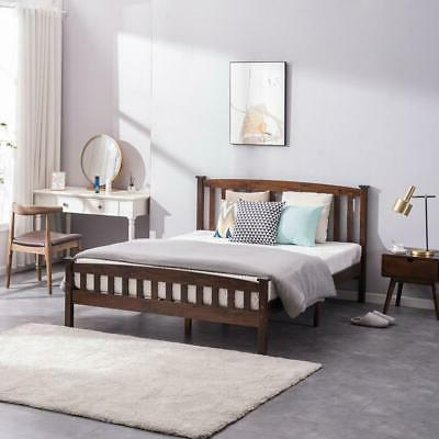 Twin/Full/Queen Solid Bed Frame Foundation w/Wood Slats
