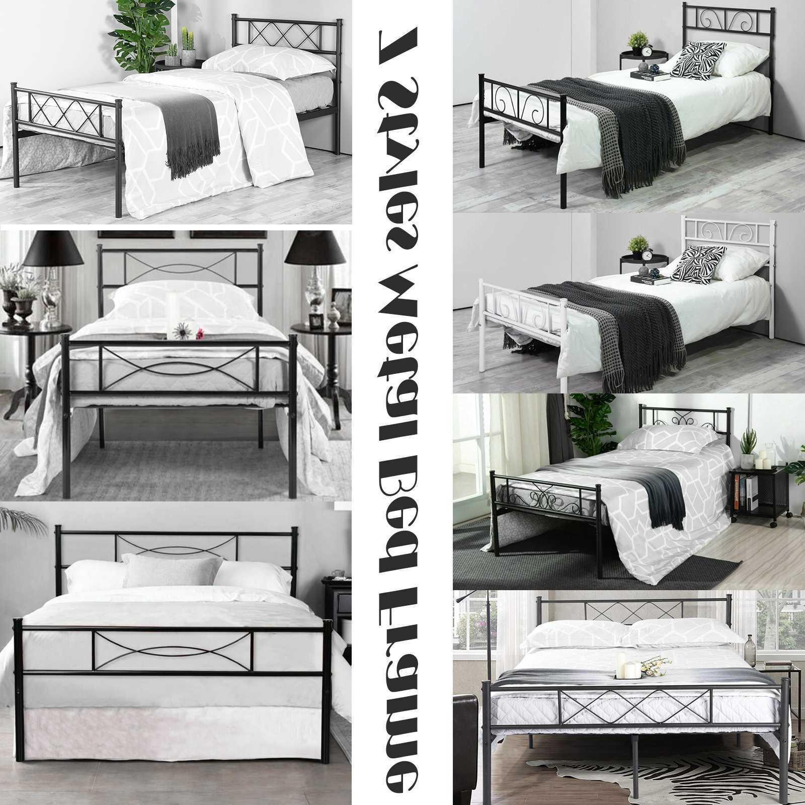 twin full size metal bed frame bedroom