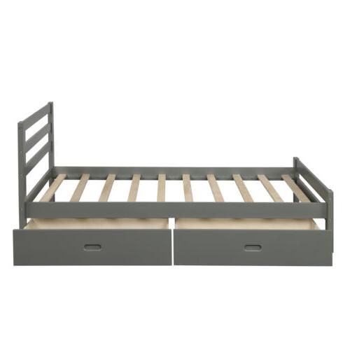 Twin/Full Size Platform w/ Bed Wooden Bed Frame Home USA