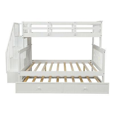 Twin Full Beds Adult Loft Bunk Storage Bed