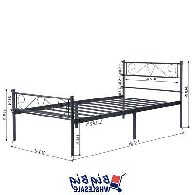 Twin Size Frame Black with Footboard