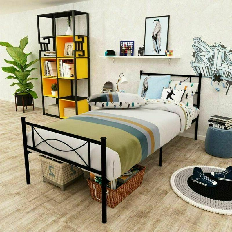 Twin Size Bed Frame Mattress with
