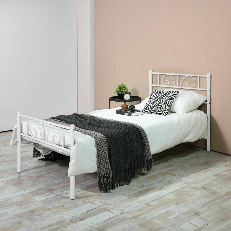 Twin Full Bed Platform Headboards Furniture Bedroom with Legs