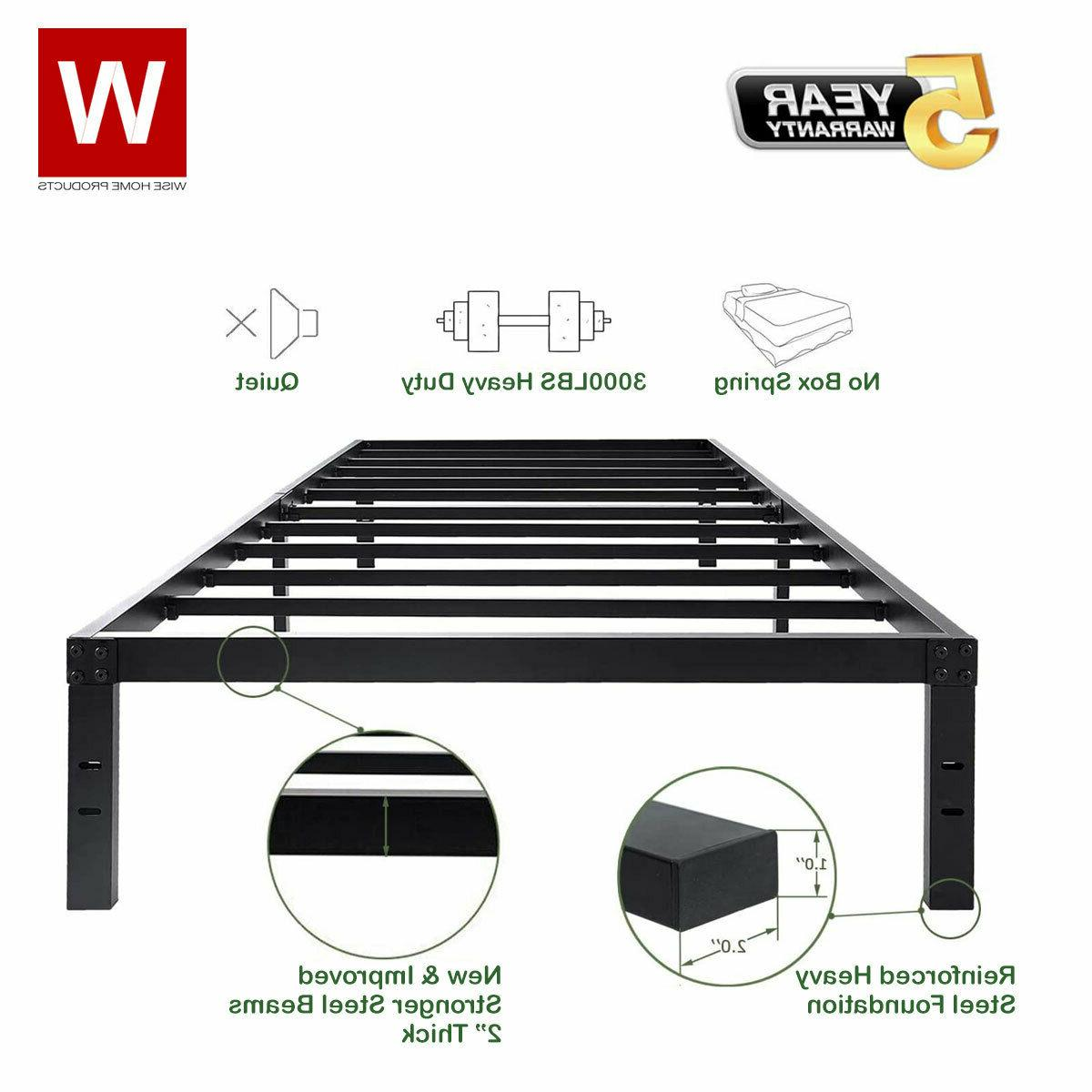 Twin XL Frame Metal Beds with Storage
