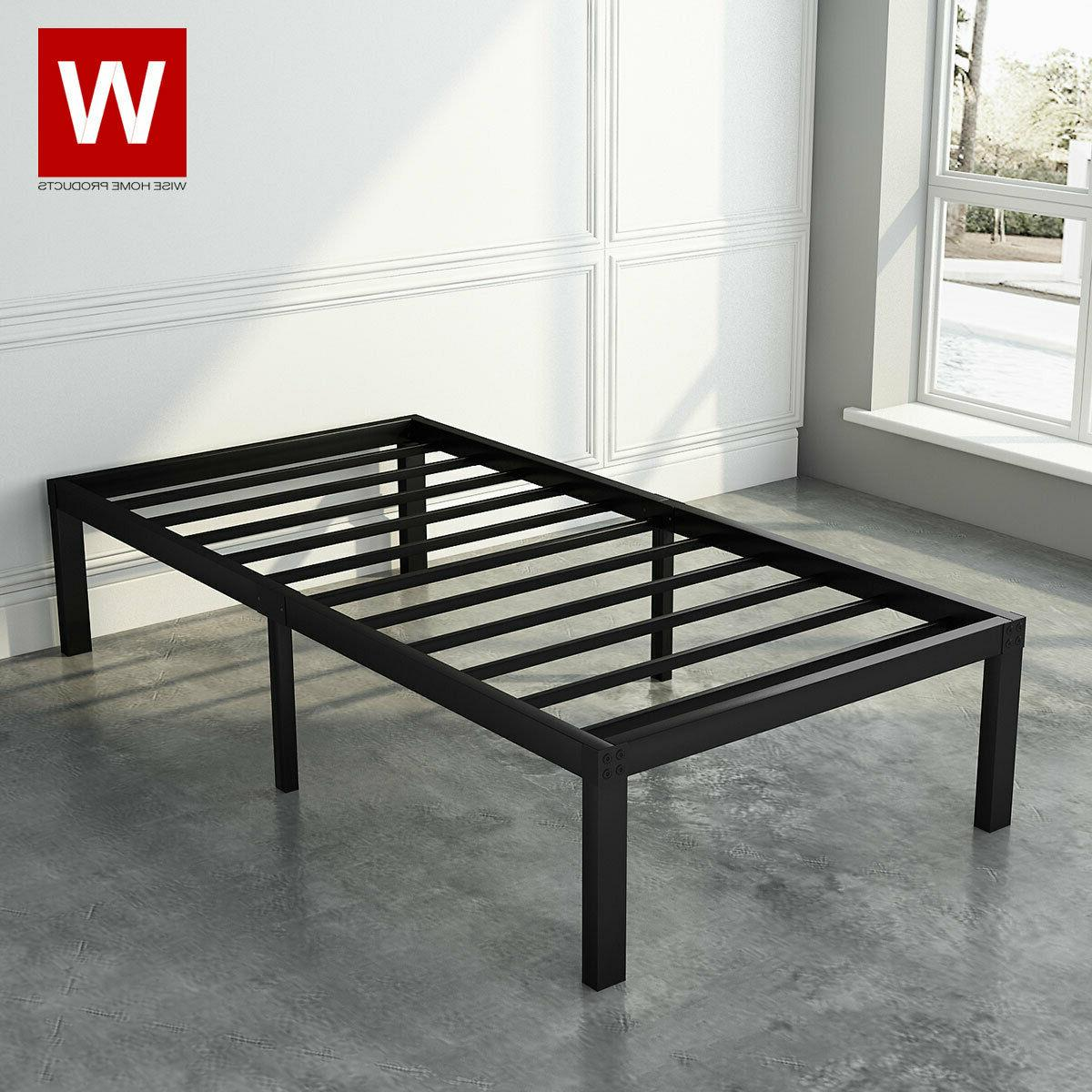Twin Steel Bed Frame Metal Platform Beds with Heavy Duty Ste