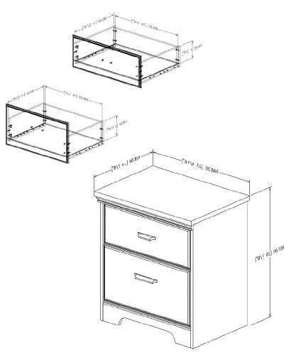 South Shore 2-Drawer Night Stand, Multiple Finishes