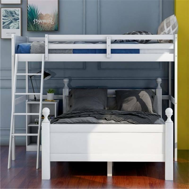White Twin Over Full Bunk Bed Bed Rails