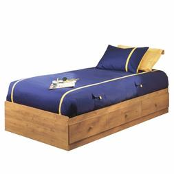 South Shore Little Treasures Twin Mates Bed with 3 Drawers,