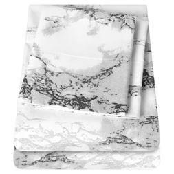 Sweet Home Collection Luxury Marble Print Sheet Set