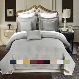Checkered Style Soft and Plush Coverlet 2-3PC Set Bedspread