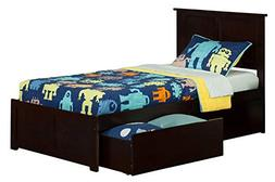 Atlantic Furniture Madison Twin XL FP Footboard With Underbe