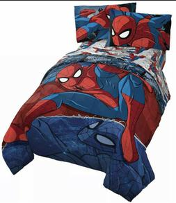 Jay Franco Marvel Spiderman Burst 4 Piece Twin Bed Set