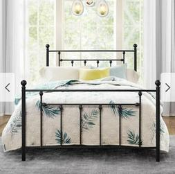 Metal Bed Frame Twin Headboard Footboard Victorian Bedroom E